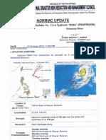 NDRRMC SWB No.12 Re Typhoon Nina