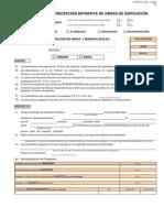 CERTIFICADO DE RECEPCIÓN DEFINITIVA EN OBRAS DE EDIFICACIÓN, CHILE