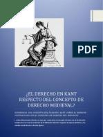 El Derecho en Kant Respecto Del Concepto de Derecho Medieval