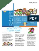 Prep 1 g Term 4 Newsletter