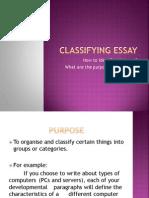 Classifying Essay