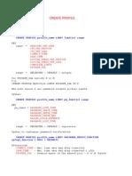 Create Profile in Database