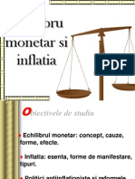 Echilibru Monetar Si Inflatia