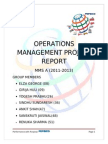 Final_operations Management Project Report
