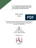 Technophilia or Technophobia - Complete MA Dissertation - Full 144 page Version