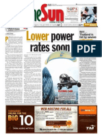 thesun 2009-01-14 page01 lower power rates soon