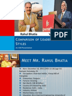 Rahul Bhattia and Vijay Mallya- Comparison of Leadership Styles