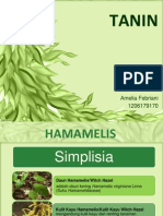 Tanin - Hamamelis