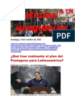 Noticias Uruguayas Domingo 14 de Octubre Del 2012