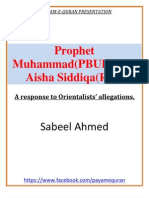 Prophet Muhammad and Aisha Siddiqa