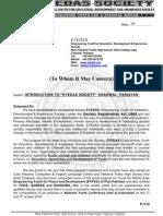 EYEDAS Society-General Letter
