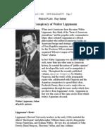 Conspiracy of Walter Lippmann