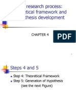 The research process Theoretical framework and hypothesis development