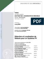 Détection et localisation de défauts pour un système PV