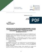 Metodologie Sesiune de Referate 2010-2011