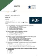 2012 Biologie Nationala Clasa a X-A Proba Teoretica Subiecte