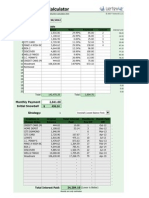Debt Reduction Calculator 20