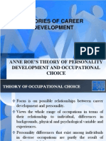 Anne Roe's Theory of Occupational Choice