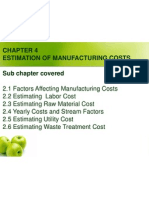 4 Manufacturing Cost Estimation