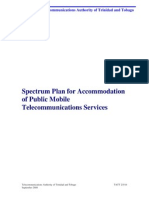 NSP - Spectrum Plan for the Accomodation of Public Mobile Telecommunications Services
