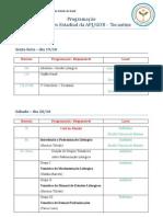Programação - III Encontro Estadual APJ/GOB-TO