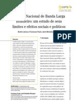 O Plano Nacional de Banda Larga Brasileiro