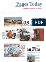 Front Pages Today - Sunday, Oct. 14. 2012.