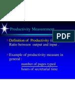 4. Productivity Measurement