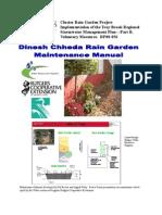 Rain Garden Maintenance Manual