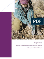 Control and Identification of Invasive Species