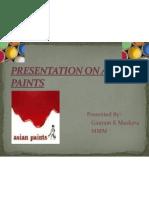 Gautam Presentation of Asian Paints