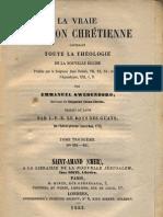 Swedenborg-La-Vraie-Religion-Chrétienne-TABLE-DES-MATIERES-Amsterdam-1771-Paris-1853