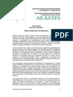 Alaeits-pronunciamiento-educ Chile y Colombia