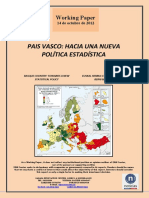 PAIS VASCO. HACIA UNA NUEVA POLITICA ESTADISTICA (Es) BASQUE COUNTRY