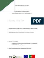 Ficha de avaliação sumativa HSA