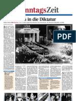 Das Ende der Weimarer Republik - der Marsch in die Diktatur