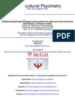 Intervenciones psicológicas basadas en la evidencia en tortura y trauma