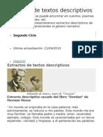 Ejemplos de Textos Descriptivos