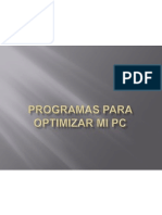 Programas Para Optimizar Mi Pc