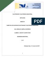 Electricidad y Electronica Industrial.- Campo de Aplicacion