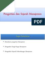 01 Pengertian Dan Perkembangan Manajemen