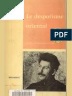 Wittfogel Le Despotisme Oriental