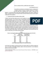 O avanço das mulheres nas eleições de 2012 e o déficit democrático de gênero