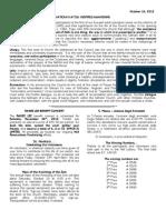 October 14th. Bulletin 28th OT 2012