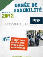 Journée de l'accéssibilité 2012