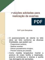 Posições adotadas para realização de exames