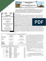 St. Joseph's October 14, 2012 Bulletin