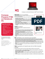 COMPAQ F755LA Data Sheet