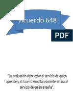 Acuerdo 648 Ok