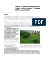 Utilizing Warm-Season Grasses to Mitigate Poultry Tunnel Fan Emissions on the Delmarva Peninsula